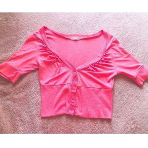 Neon pink 💖 cropped cardigan